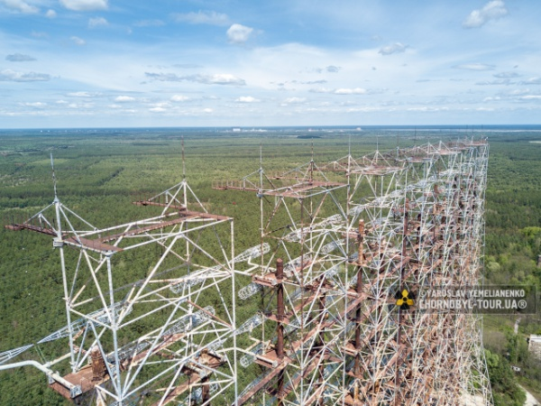 DUGA-1 and town of Chornobyl-2